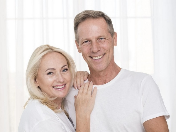 Happy couple with dentures
