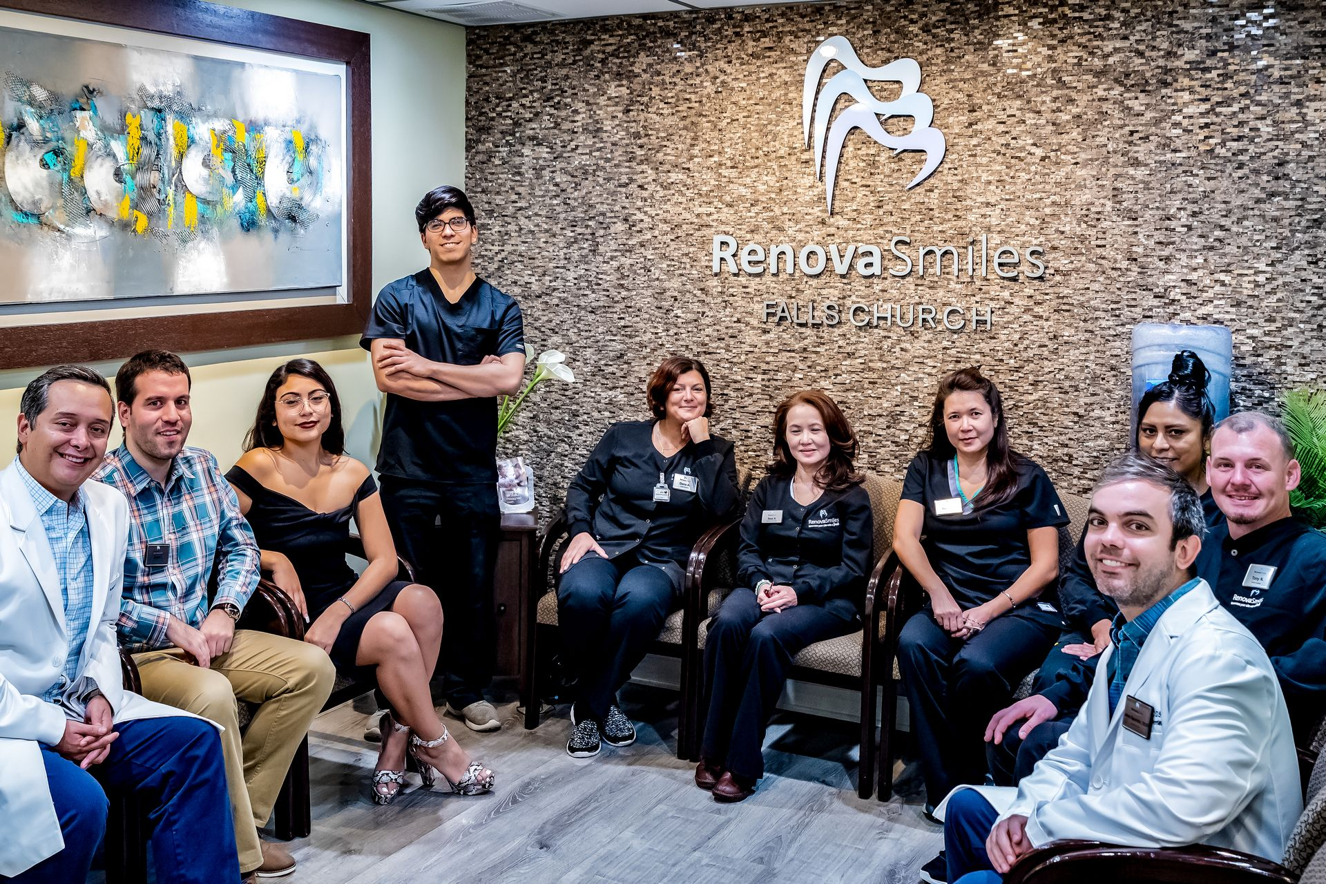 RenovaSmiles Falls Church dentists, providers, managers and staff