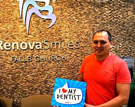 Satisfied male client of RenovaSmiles