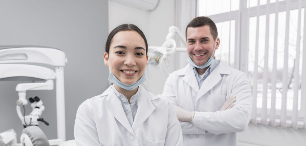 Male and female preventive dentists